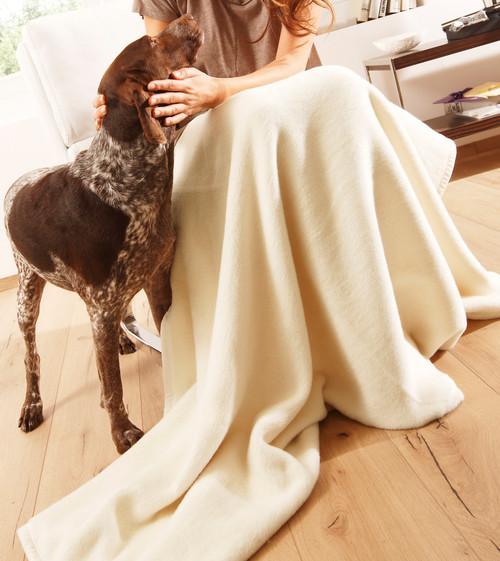 Biederlack Uno Soft Natural Throw Blanket