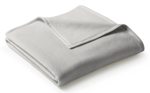 Biederlack Uno Cotton Silver Blanket