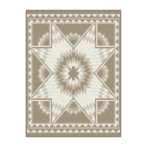 Ibena Quilting Star Taupe Throw Blanket