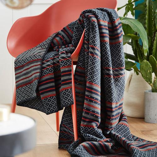 S. Oliver Ethnic Stripe Throw Blanket