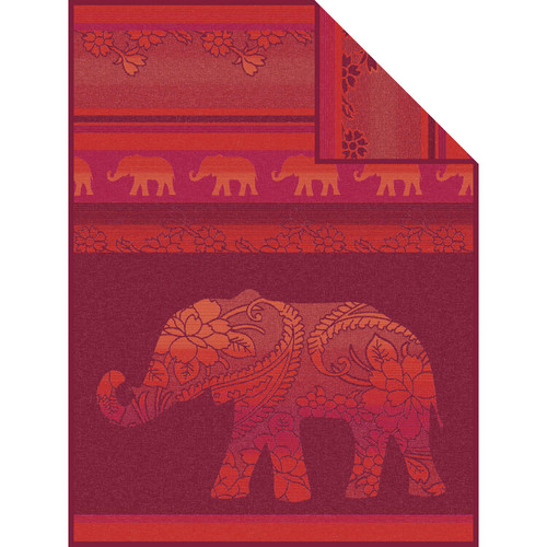 Delhi Elephant Throw Blanket