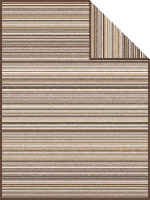 Ibena Antwerpen Natural Stripe Throw Blanket
