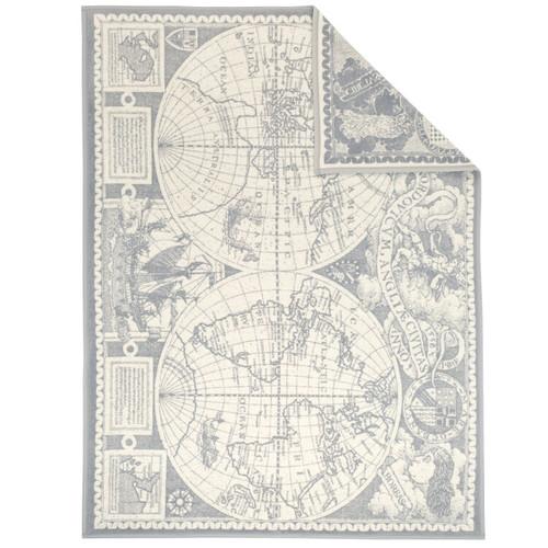 Lovely Planet World Map Throw Blanket