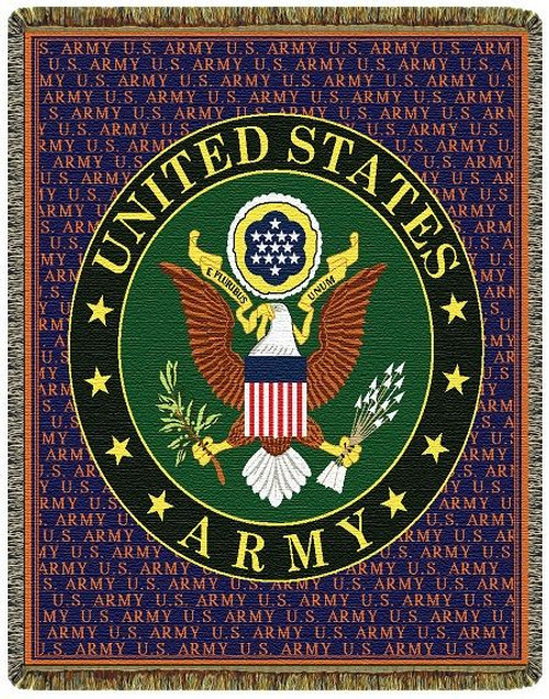 United States Army Tapestry Throw