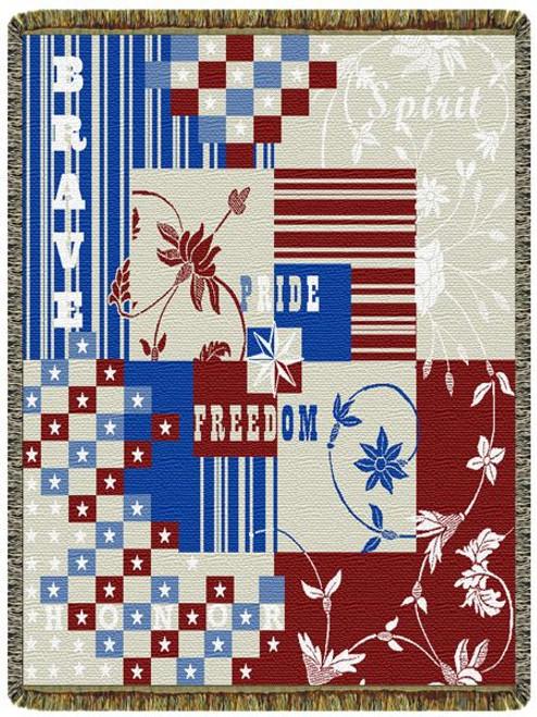 Celebrating Freedom Tapestry Throw