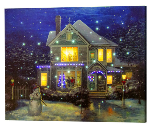 Holiday Cheer Lighted Canvas With Remote