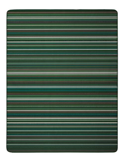 Biederlack Jacquard Trend Blue Green Blanket