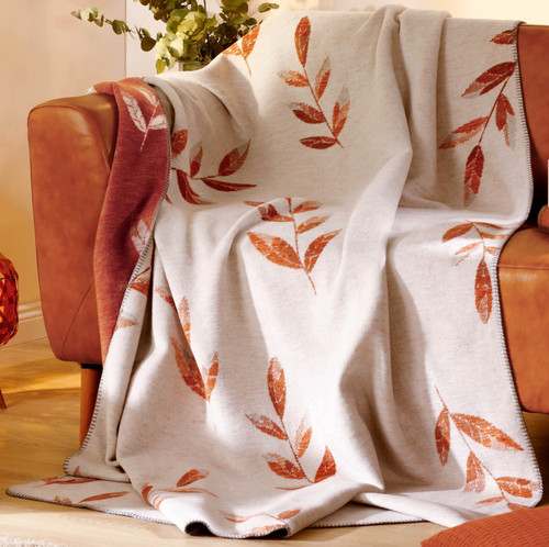 Biederlack Dove Botanical Design Blanket