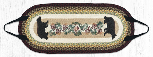 Capitol Earth Rugs Cabin Bear With Pinecones Log Carrier