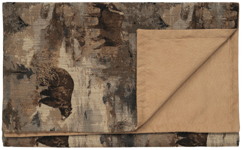 Wooded River Daybreak Moose and Bear Bedscarf