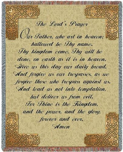 Pure Country The Lord's Prayer Tapestry Throw