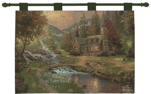 Thomas Kinkade Mountain Paradise Wall Hanging With Scripture Verse
