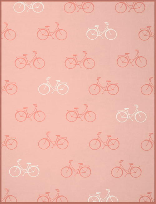 Biederlack Bicycles in Coral Pink Blanket