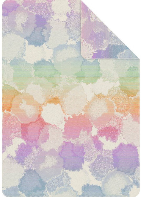 Ibena Massana Watercolor Drops Organic Cotton Blanket