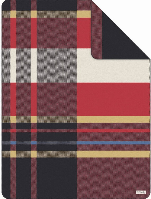 Ibena S Oliver Red Classic Plaid Blanket