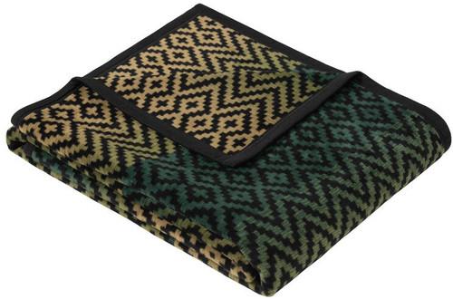 Granby Green Geometric Throw Blanket