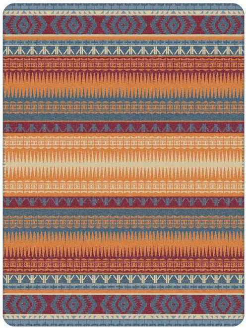 Ibena Mojave Orange Multi Blanket