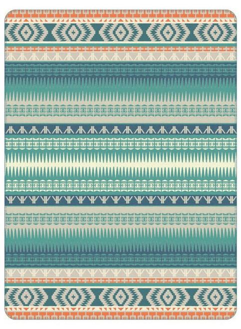 Ibena Mojave Southwest Teal Multi Blanket