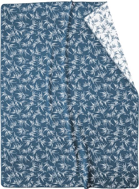Biederlack Floral Blue Blanket