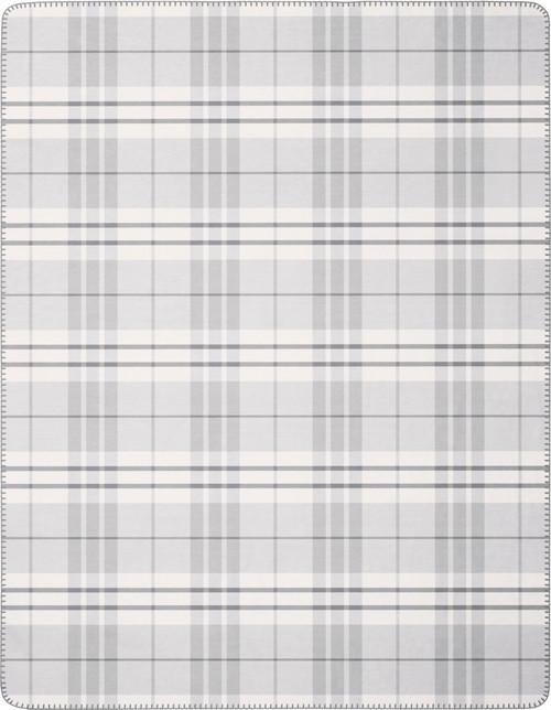 Biederlack Eternal Grey Plaid Blanket