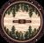 "Autumn Point/Wine Round Rug by American Dakota (Approx. 7'7"")"