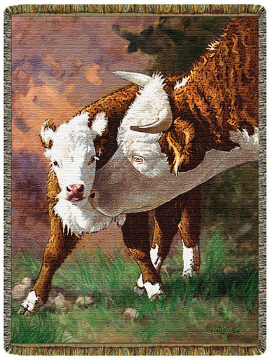 A Good Lickin Cow Tapestry Throw Cow Throw Cow Blanket