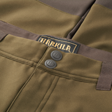 Harkila Lagan trousers in willow green and shadow brown, men's lightweight trousers