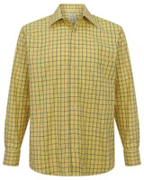 Hoggs of Fife Governor Premier Tattersall Check Shirt Gold