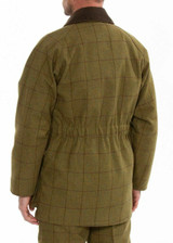 Alan Paine Rutland Tweed shooting coat in lichen, men's waterproof and breathable shooting jacket