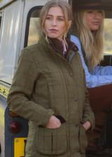 Alan Paine Ladies Rutland Tweed shooting jacket, with laminated waterproof and breathable membrane