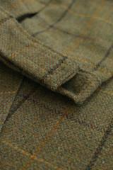 Alan Paine Rutland Tweed breeks in dark moss colour, men's country breeks in green check