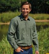Champion Country Estate Castleton polycotton shirt in green check