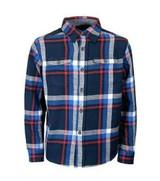 Children's flannel cotton shirt in blue check