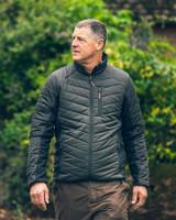 Jack Pyke Hybrid Jacket in Green, men's padded jacket