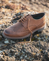 Hoggs of Fife Inverurie country brogue shoes in walnut brown