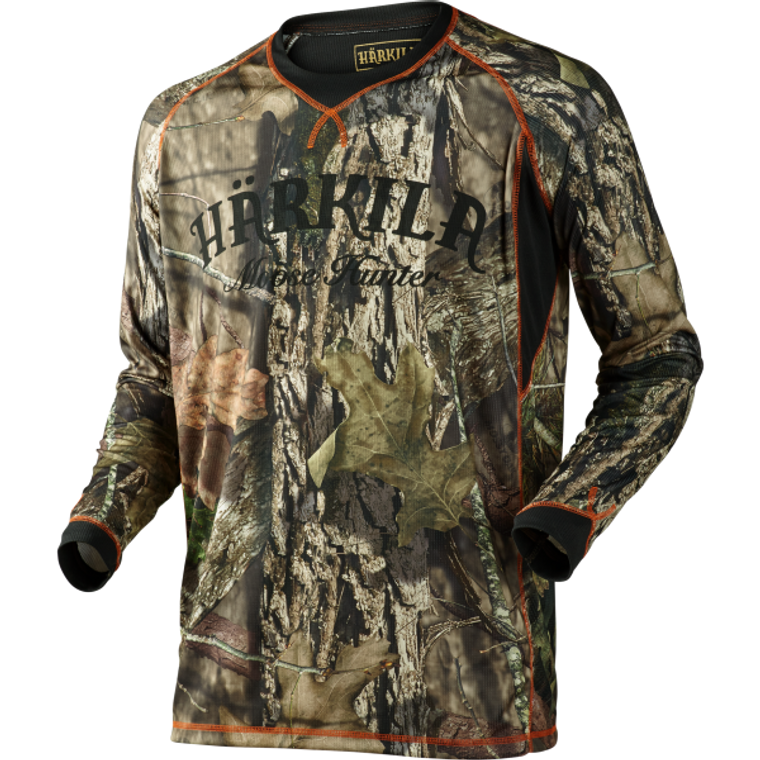 Härkila Moose Hunter Long Sleeve Top in camouflage, lightweight, quick drying material