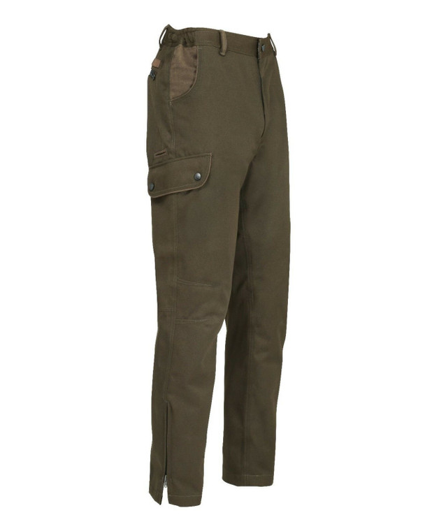 Percussion Sologne Trousers in Olive green, men's waterproof and breathable trousers