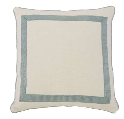 "Bernhardt 23"" Custom Decorative Pillows Mitered Tape Picture Frame-1"