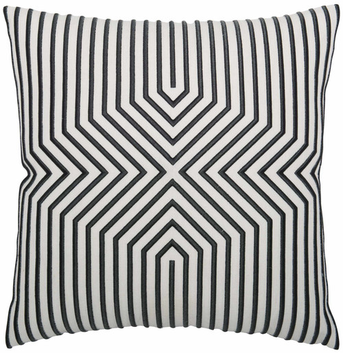 "Bernhardt 23"" Luxe Pillows Embroidered Graphic Lines-1"