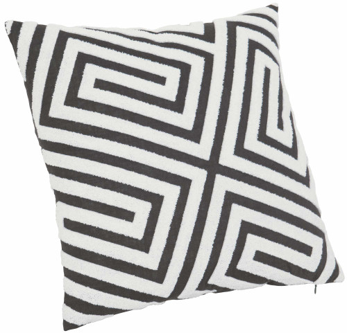 "Bernhardt 21"" x 21' Luxe Pillows Loop Embroidered Fretwork-1"