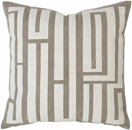 "Bernhardt 22"" Luxe Pillows Abstract Embroidered Fretwork-1"