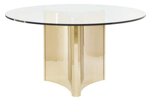 "Bernhardt 100"" Bernhardt Interiors Casegoods Abbott Metal Pedestal Table Base -1"
