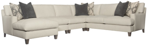"Bernhardt 66"" Bernhardt Upholstery - Fabric Mila Right Arm Loveseat -1"