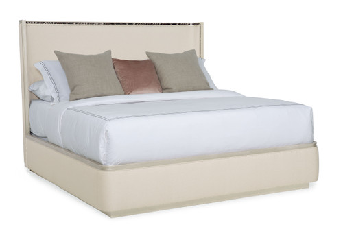 """Caracole 86"""" Caracole Classic - Dream Big King Bed, Soft Silver Paint-1"""