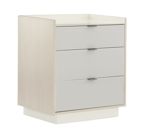 """30"""" Modern Expressions - Expressions Nightstand, Ash Taupe, Winter Haze, Delicate Gray"""