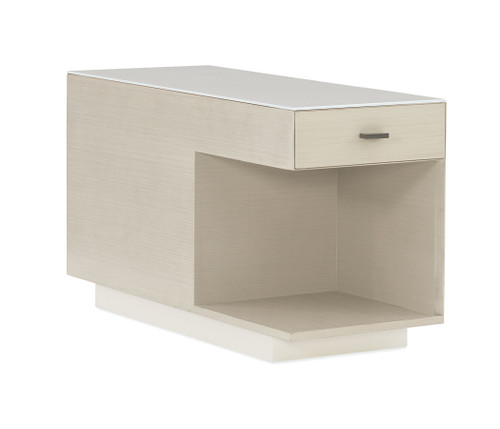 "40"" Modern Expressions - Repetition Bunching End Table, Ash Taupe, Delicate Gray, Winter Haze"
