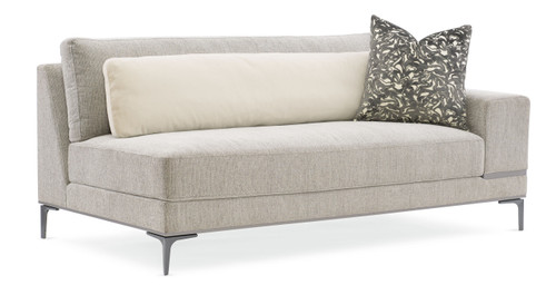 "72"" Modern Expressions - Repetition Raf Loveseat, London Fog"