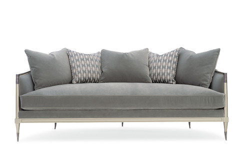 "Caracole 86"" Caracole Upholstery - Splash Of Flash, Soft Silver Paint-2"