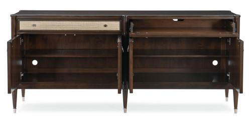 "Caracole 81"" Caracole Classic - The Silver Screen, Mocha Walnut-2"