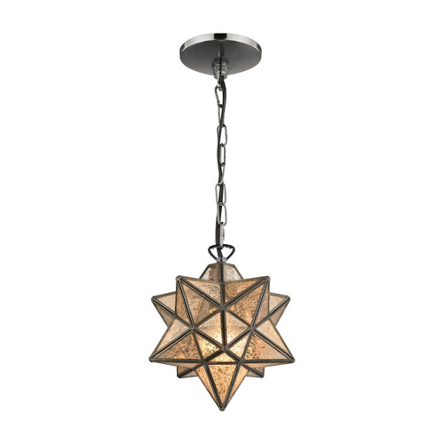 "10"" ELK Home Moravian Star 1-Light Mini Pendant in Bronze - Small, Traditional - 1"